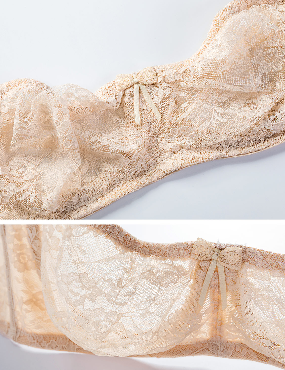 Women/'s Convertible Basic Sheer Underwire Multiway Strapless Lace Bra