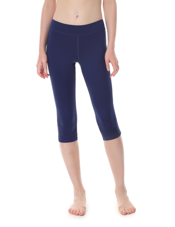 damen sports leggings capri tights laufhose sportshose ebay. Black Bedroom Furniture Sets. Home Design Ideas