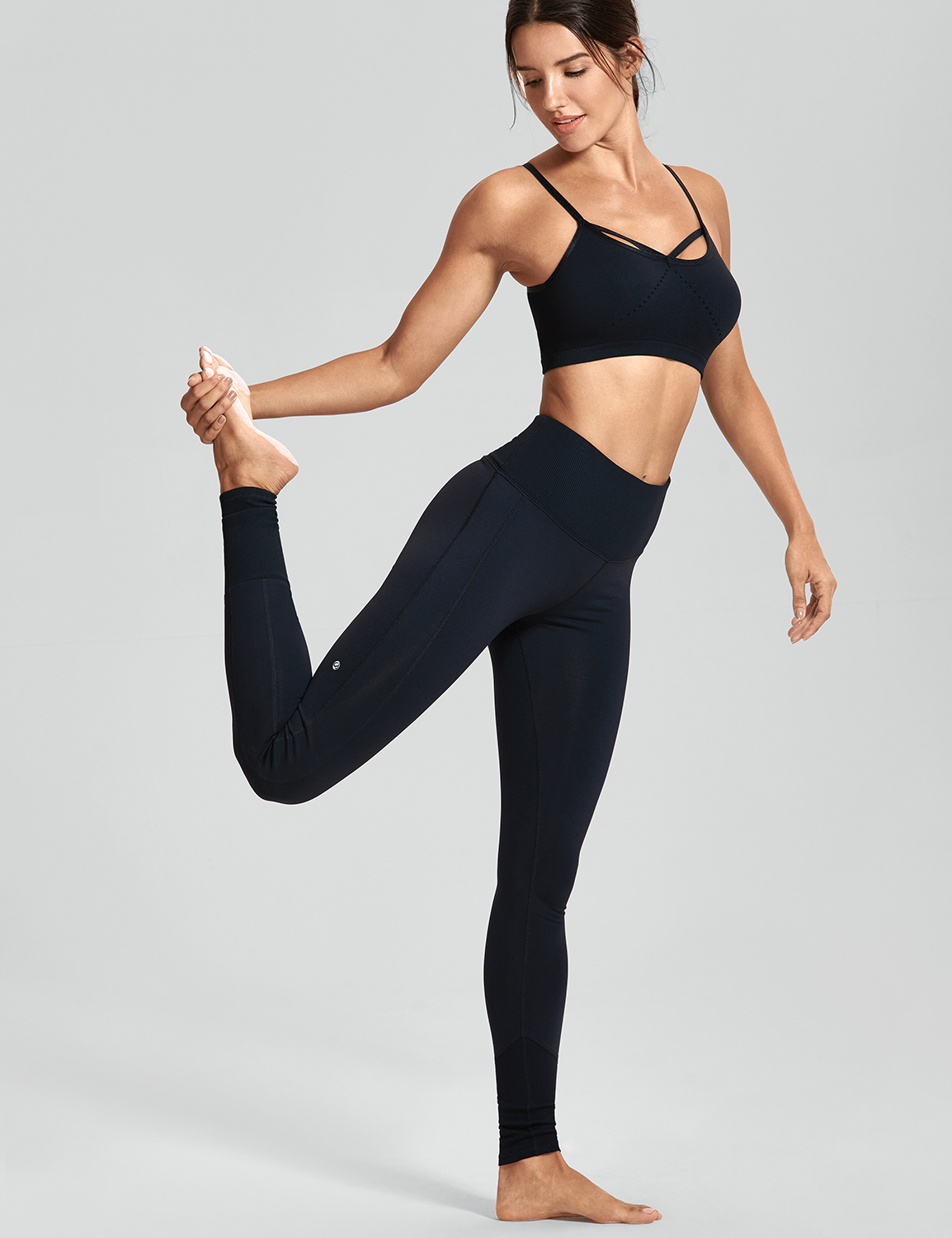 Damen hoher Taille verdicken für Yoga Fitness Stretchhosen Leggings