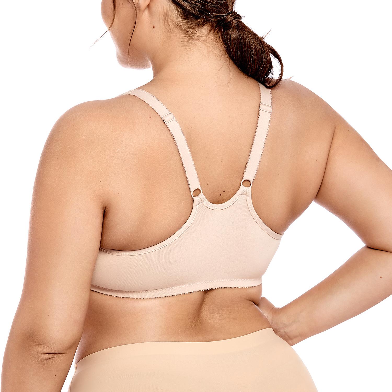 Damen Vorderverschluss Vollschalen Nahtlose BH mit Bügel ohne Einlagen