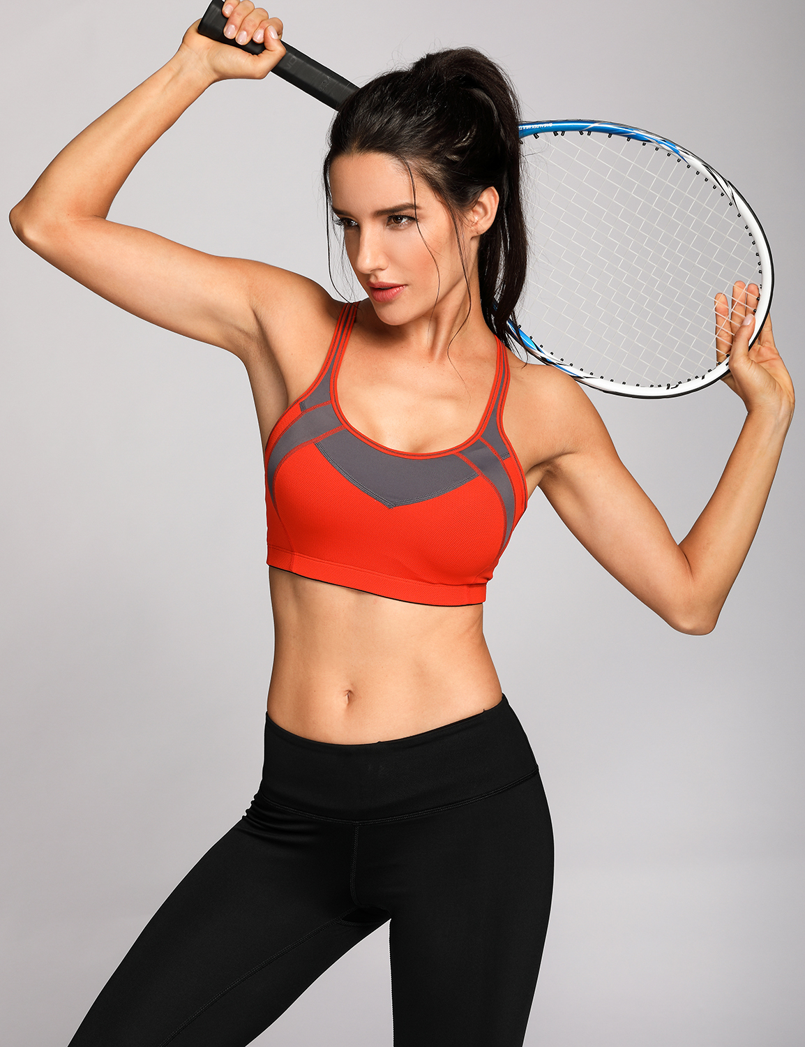 Women-039-s-High-Impact-Gym-Active-Sports-Bra-With-Mesh-Wireless-Padded-Cup-X-back thumbnail 12