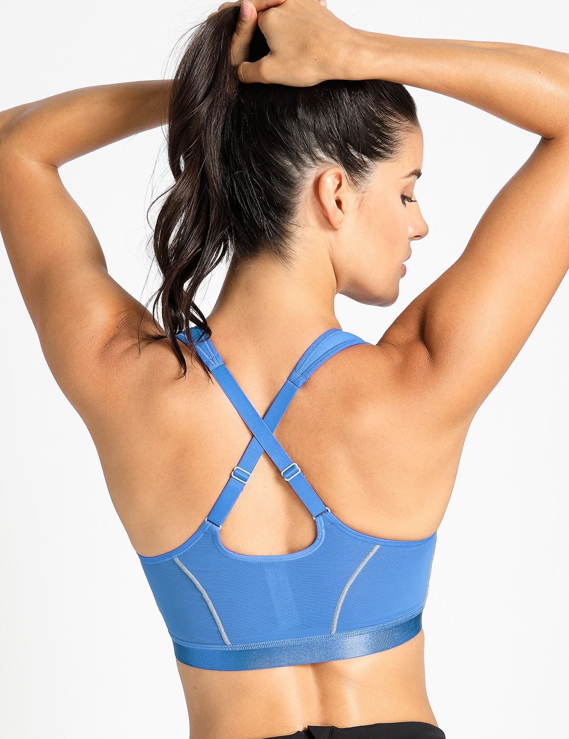 a99d2aae80 Women s High Impact Front Closure Racerback Full Support Sports Bra ...
