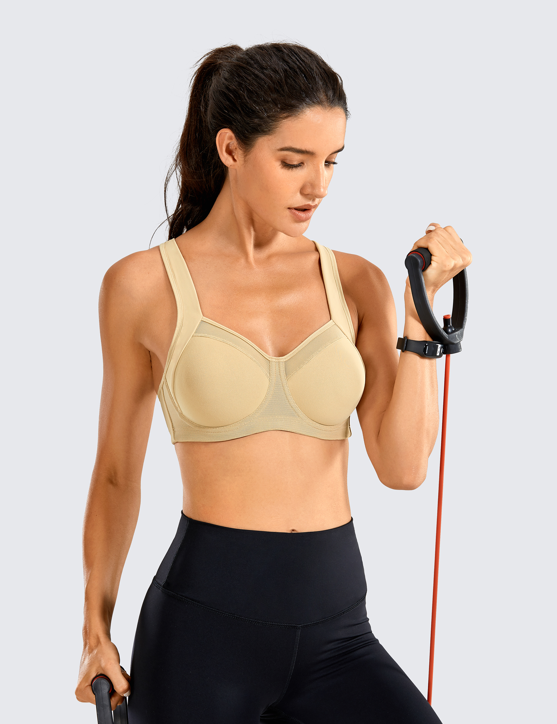 SYROKAN-Women-High-Impact-Sports-Bra-Underwire-Workout-Running-Powerback-Support thumbnail 39