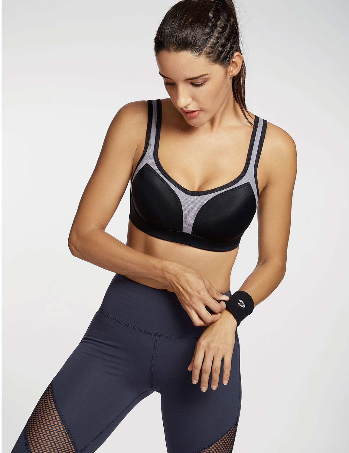 Women-039-s-Firm-Support-Contour-High-Impact-Underwire-Sports-Bra thumbnail 8