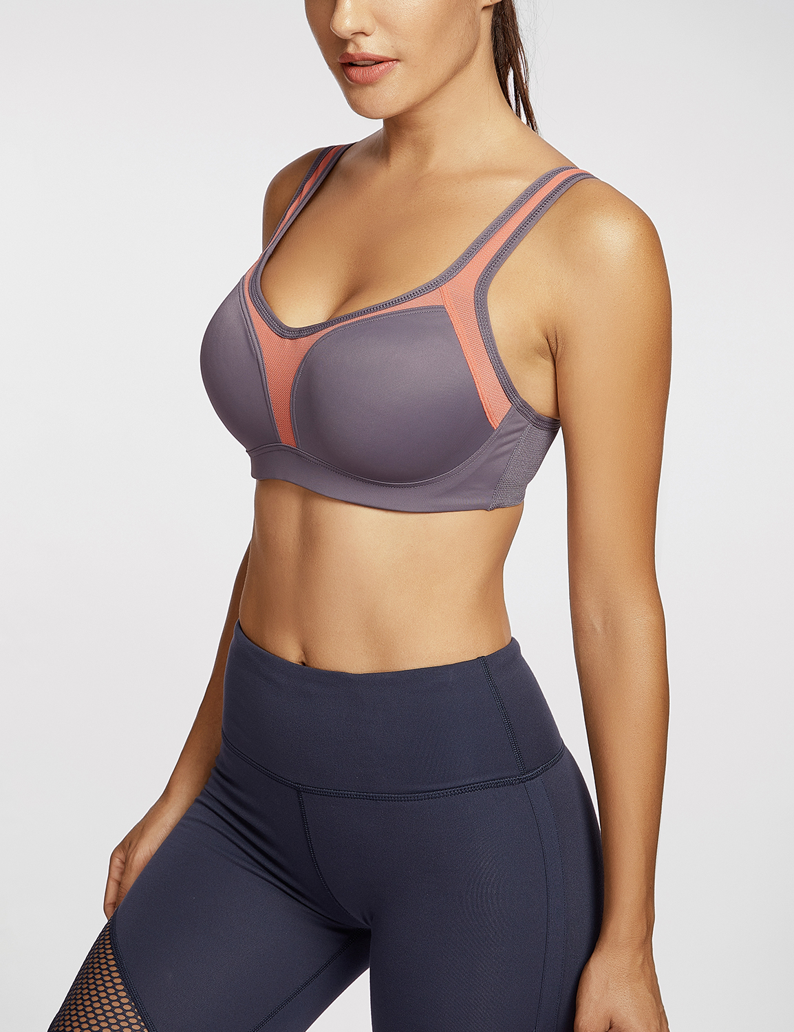 Women-039-s-Firm-Support-Contour-High-Impact-Underwire-Sports-Bra thumbnail 13