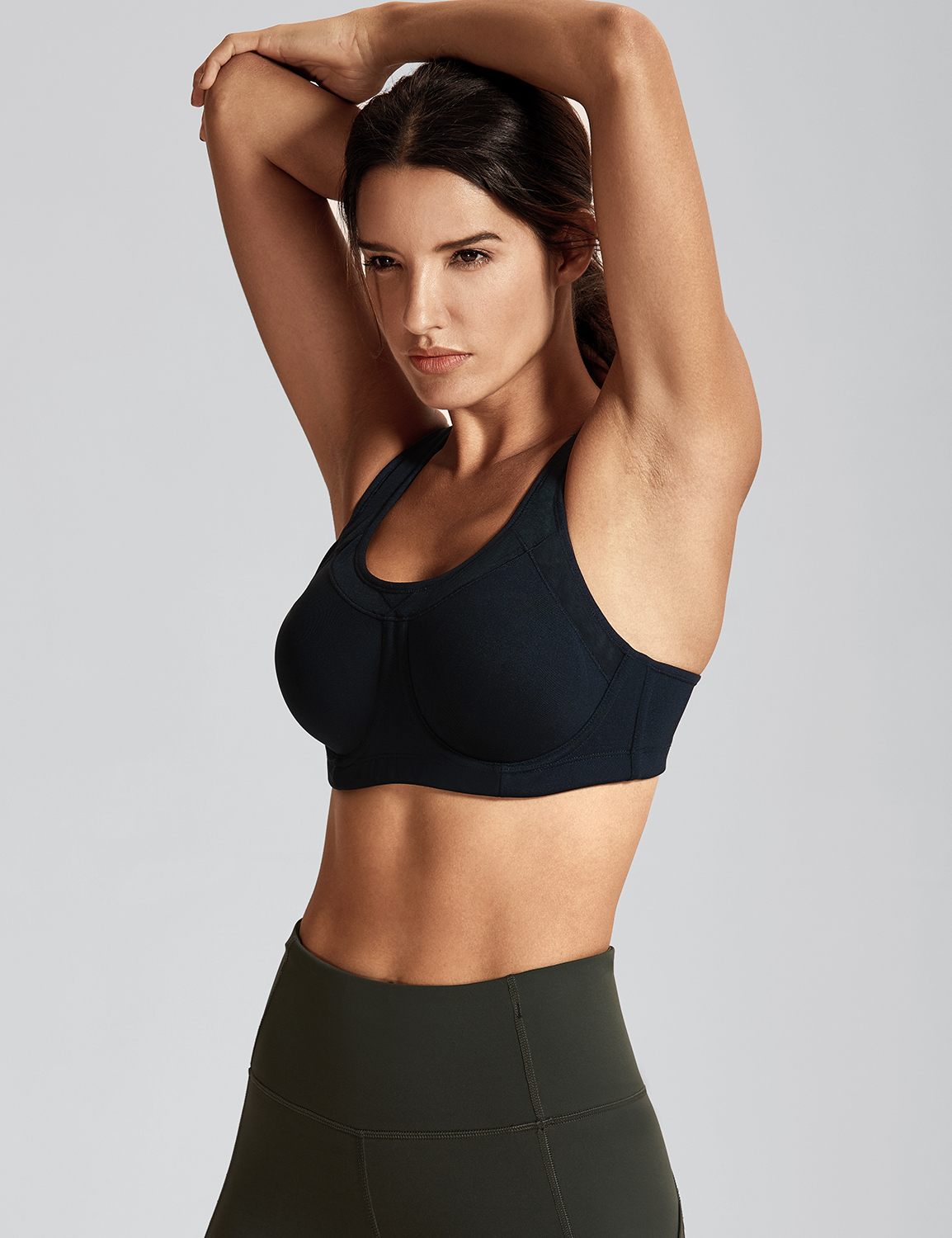 Women-039-s-High-Impact-Full-Coverage-Bounce-Control-Plus-Size-Workout-Sports-Bra thumbnail 8