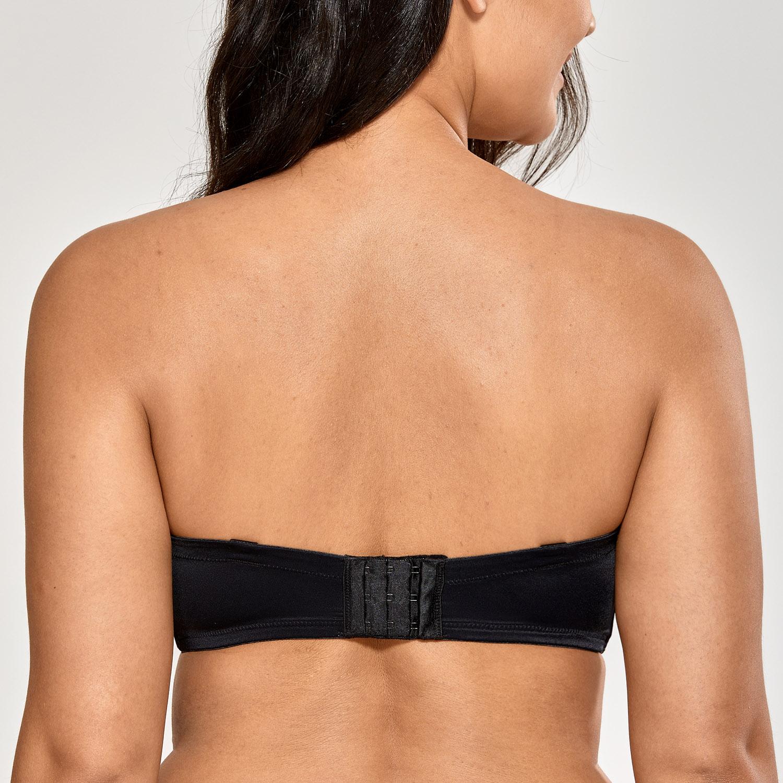 Women/'s  Plus Size Support Lace Strapless Bra Underwire Unlined Underwear