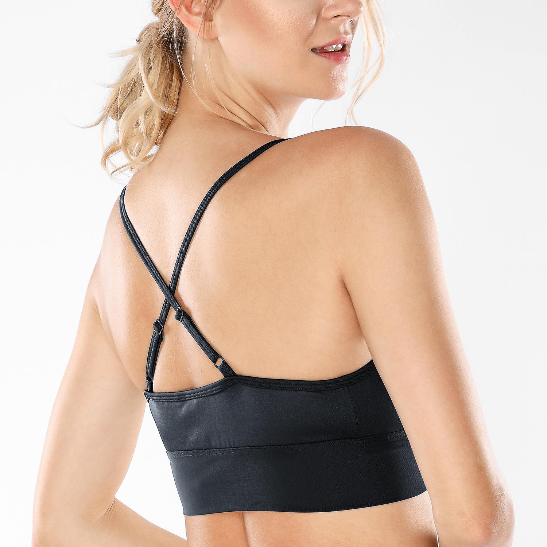 Femme-Soutien-Gorge-de-Sport-Yoga-Croix-retour-Large-Maille
