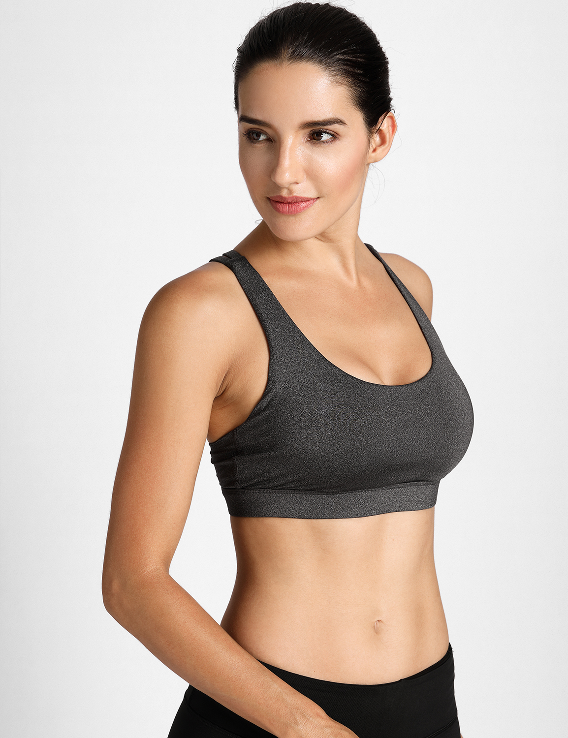 Workout Wirefree Yoga Top for Women Criss Cross Back 72/_SBLUE S//M Strappy Padded Sports Bra