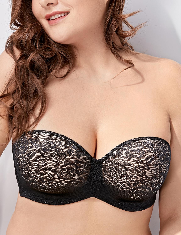 Femme Soutien-Gorge Sans Bretelles Grande Taille à Armatures Moulé 1d2769ca9c6