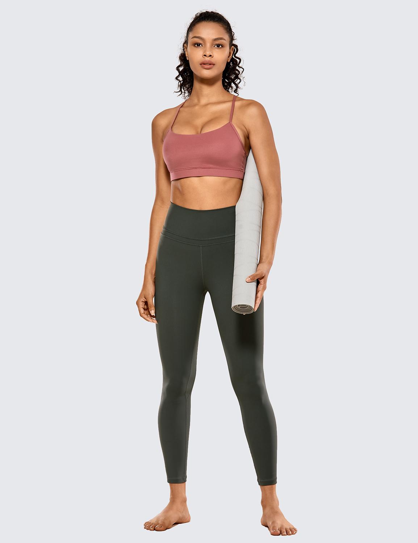 CRZ YOGA Womens Yoga Leggings Workout Pants Naked Feeling