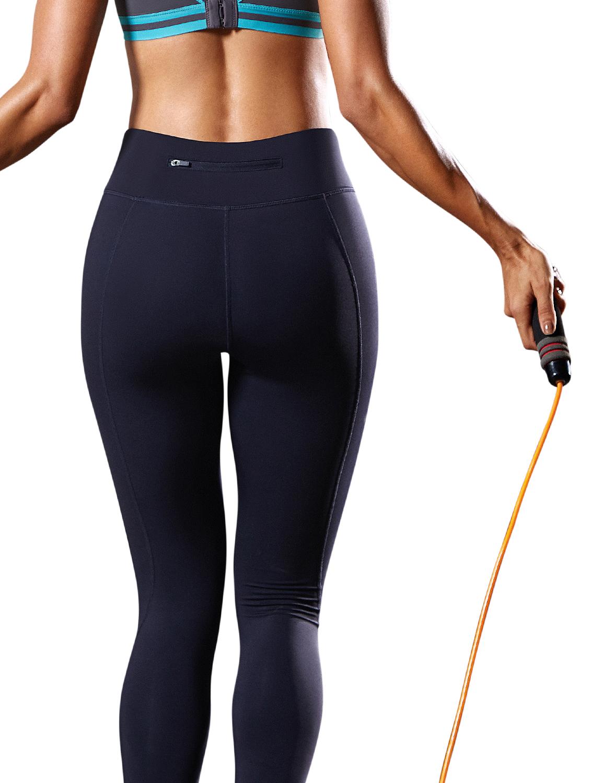 9da0166fc749a Women's Medium Rise Squat-Proof Compression Running Workout Leggings ...