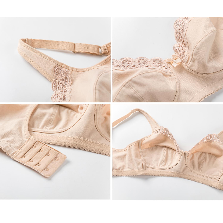Women-039-s-Full-Coverage-Cotton-Bra-Wireless-Non-Padded-Plus-Size-Underwear thumbnail 12
