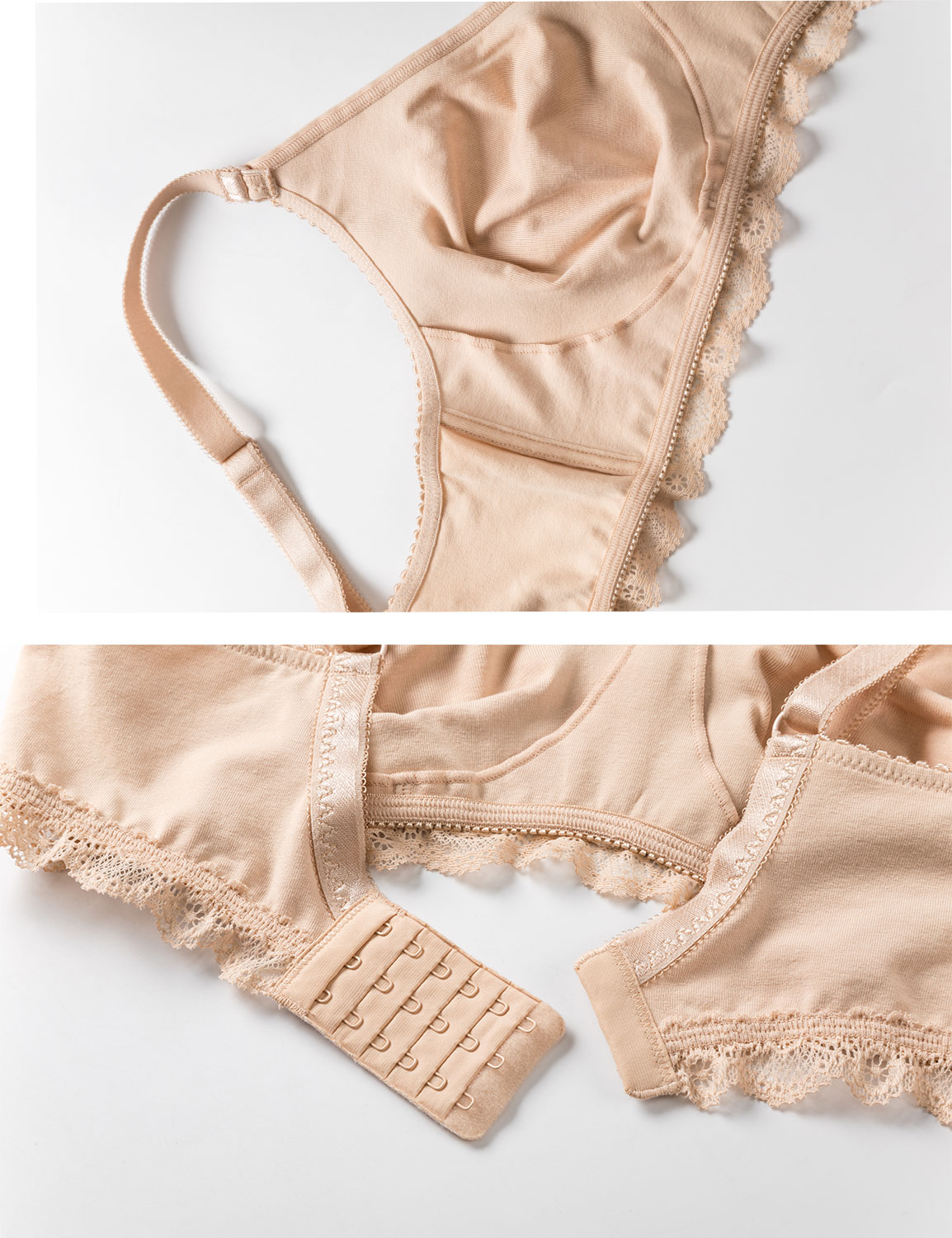 Women-039-s-Lace-Soft-Wirefree-Non-Padded-Full-Coverage-Cotton-Bra-Plus-Size thumbnail 9
