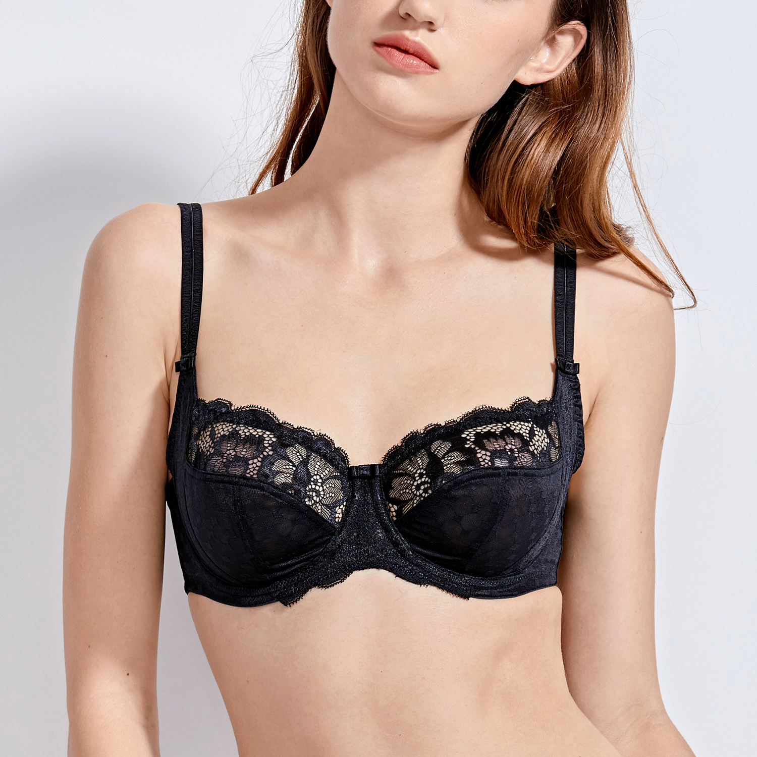 Women-039-s-Plus-Size-Full-Coverage-Underwire-Non-Padded-Support-Lace-Bra thumbnail 8
