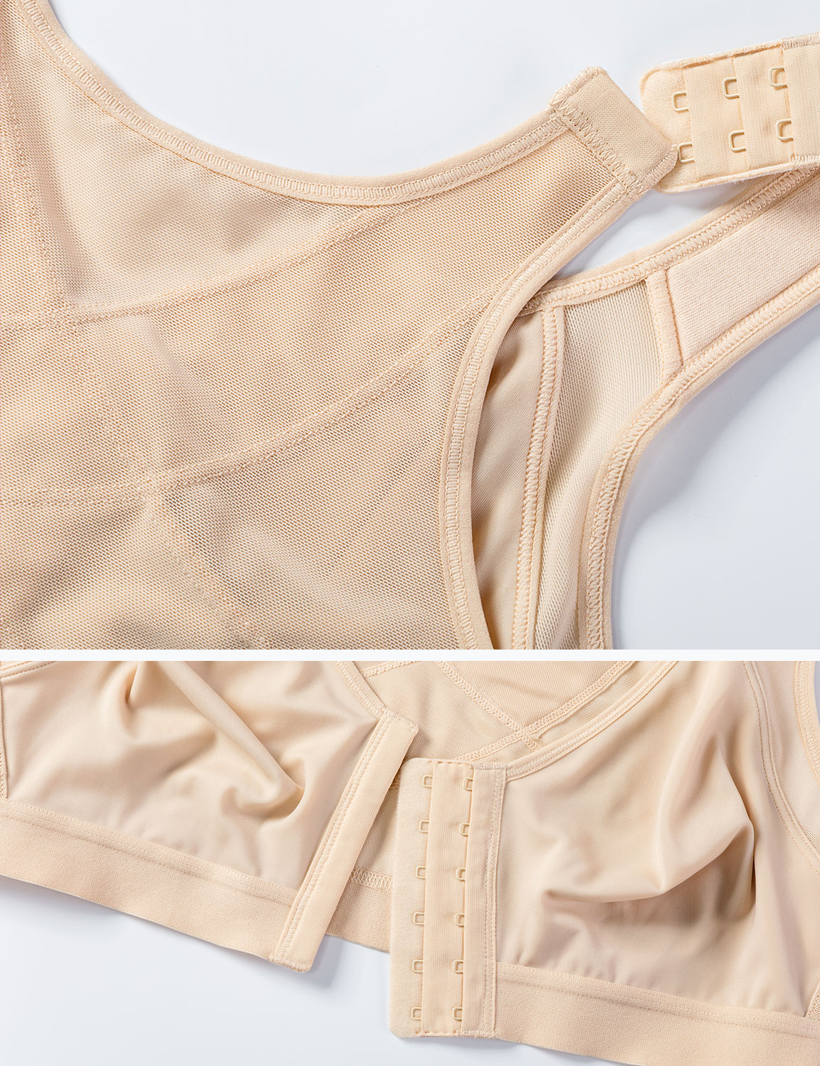 Women-039-s-Full-Coverage-Front-Closure-Wire-Free-Back-Support-Bra thumbnail 9